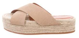 AllSaints Crossover Strap Espadrille Sandals