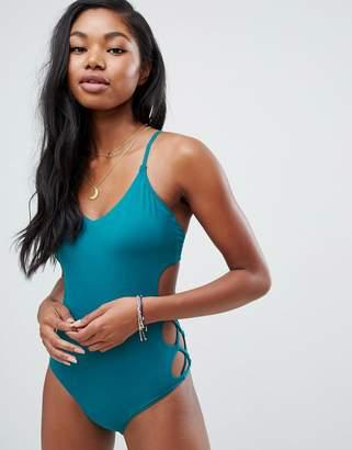 Billabong lattice swimsuit in emerald