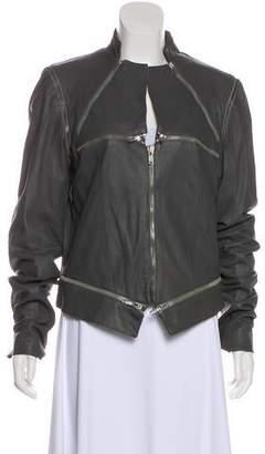 Gareth Pugh Zip-Up Leather Jacket