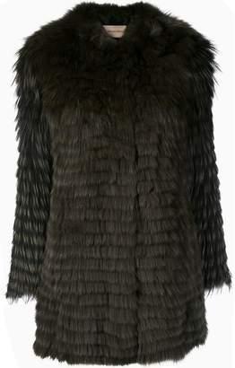 Yves Salomon knitted fox fur coat