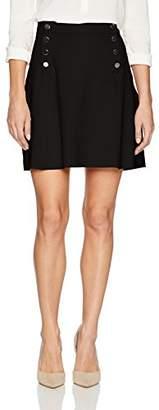 Three Dots Women's Ponte A-line Loose Short Skirt