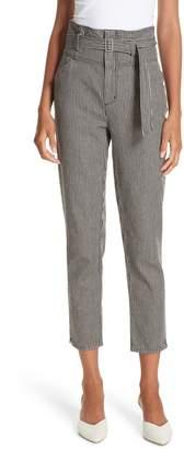 Rebecca Taylor Stripe Crop Pants