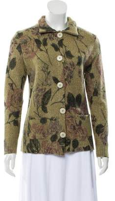 Etro Wool Printed Cardigan Green Wool Printed Cardigan