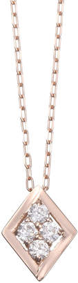 Essenza Diamond Jewelry Selection K18PG ダイヤネックレス 0.08ct