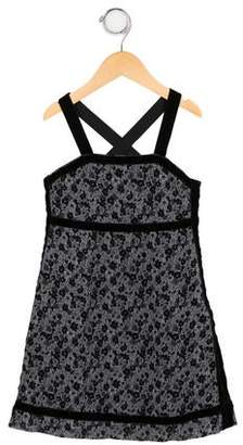 Sonia Rykiel Girls' Velour-Accented Floral Dress