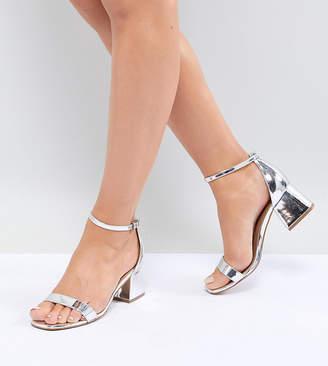 Asos Design DESIGN Honeydew Wide Fit Block Heeled Sandals