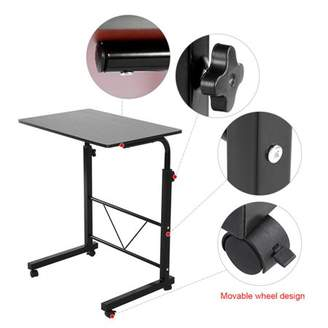 Outopee Laptop Desk Height Adjustable Rolling Notebook Sofa Bedside Sofa Table Stand