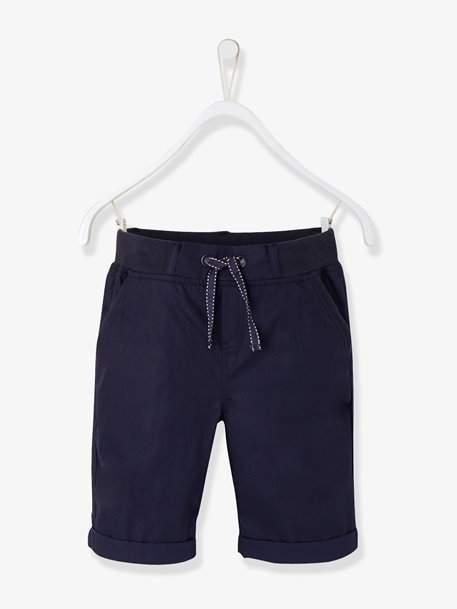 Boys' Poplin Bermuda Shorts - blue medium solid