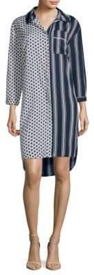 Nancy Striped and Polka Dot Shirtdress