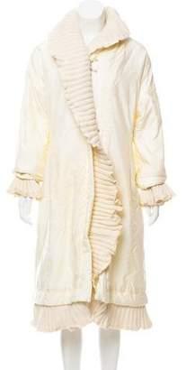 Ermanno Scervino Wool-Trimmed Long Coat