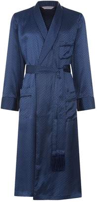 Derek Rose Graphic Print Silk Dressing Gown