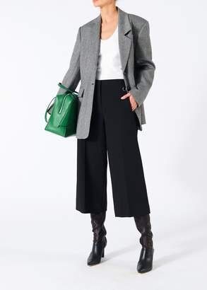 Tibi Herringbone Oversized Asymmetrical Blazer