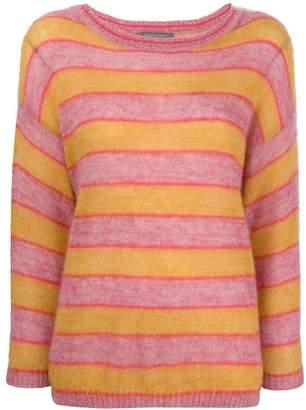Alberta Ferretti striped slouchy sweater