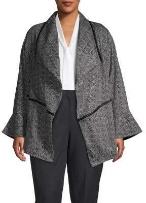 Rafaella Plus Bell-Sleeve Cardigan Jacket