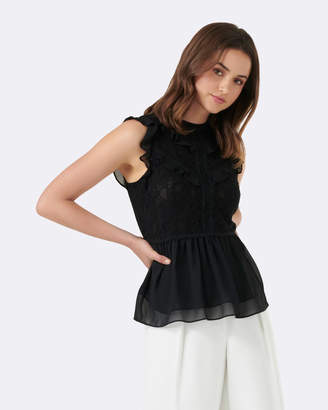 Forever New Audrey Lace Ruffle Blouse
