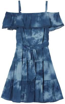 Amy Byer Iz Girls 7-16 IZ Cold Shoulder Ruffled Tiered Dress