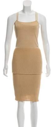 Chanel Metallic Pleated Dress Metallic Metallic Pleated Dress