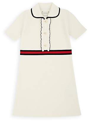 Gucci Kids' Striped Wool Sweaterdress - Cream