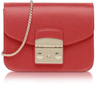 Furla Ruby Leather Metropolis Mini Crossbody Bag