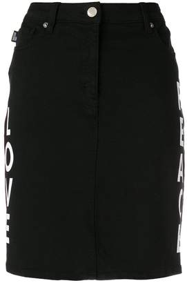Love Moschino heart patch skirt