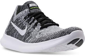 Nike Women's Free Run Flyknit 2017 Running Sneakers from Finish Line $120 thestylecure.com