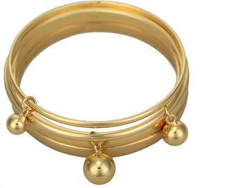 Liz Claiborne Set of 5 Gold-Tone Bangle Bracelets