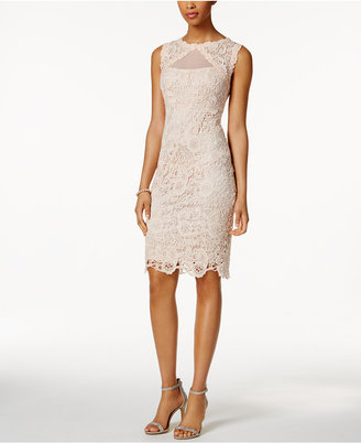 Jax Illusion Lace Sheath Dress $148 thestylecure.com