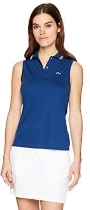 Lacoste Women's Sport Sleeveless Ultra Dry Tennis Polo W/Mesh Back