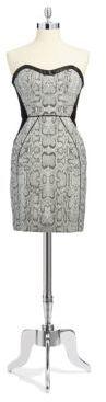 ABS by Allen Schwartz Python Strapless Dress