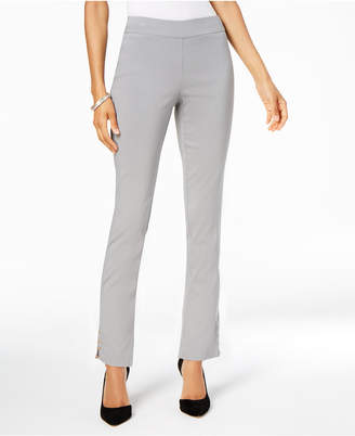 JM Collection Petite Embellished Ankle Pants, Created for Macy's