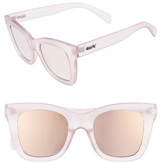 Women's Quay Australia After Hours 50Mm Square Sunglasses - Pink $55 thestylecure.com