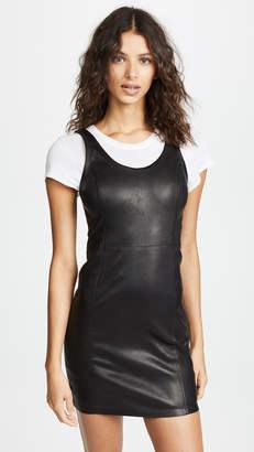 Alexander Wang Stretch Leather Sheath Dress