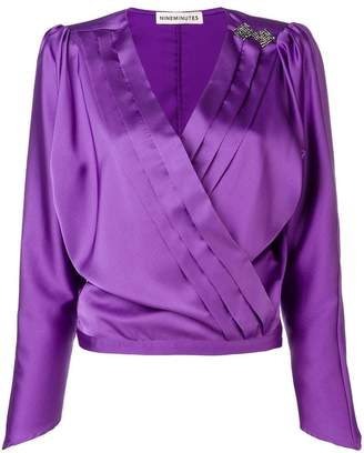 Nineminutes long-sleeve wrap blouse