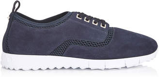 Jimmy Choo JENSON Navy Mesh and Suede Trainers