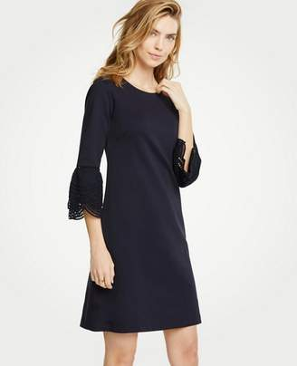 Ann Taylor Lace Flare Sleeve Shift Dress