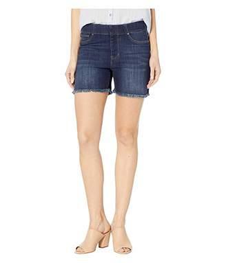 Liverpool Chloe Pull-On Shorts w/ Frayed Hem