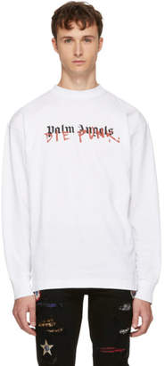 Palm Angels White Playboi Carti Edition Long Sleeve Die Punk T-Shirt