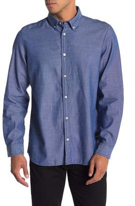 Calvin Klein Logo Patch Slim Fit Oxford Shirt