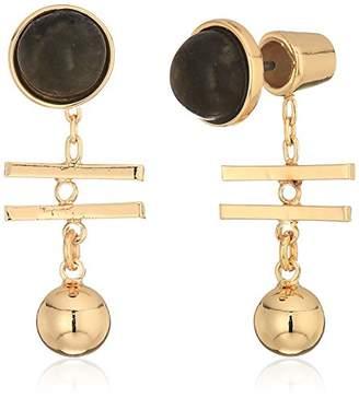 Danielle Nicole Klee Gold / Black Drop Earrings