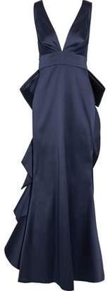 Sachin + Babi Topanga Bow-Embellished Duchesse Satin-Twill Gown