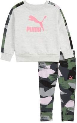 Puma Fleece Crewneck Sweatshirt & Leggings Set
