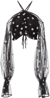 Alice McCall You're The One Gathered Cropped Top