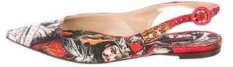 Dolce & Gabbana Canvas Slingback Flats