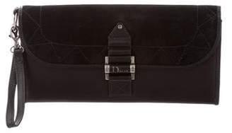 Christian Dior Leather Flap Clutch