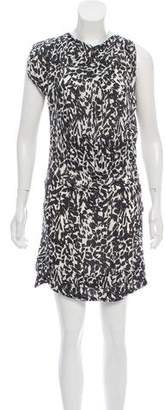 Isabel Marant Abstract Print Silk Dress