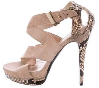 Burak Uyan Snakeskin Platform Sandals