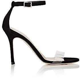 Barneys New York Women's Suede & PVC Ankle-Strap Sandals-Black