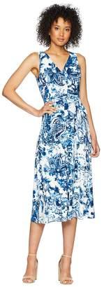 Lauren Ralph Lauren A148 Coco Paisley Cara Sleeveless Day Dress Women's Dress