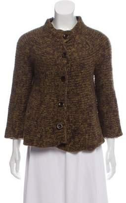 Dries Van Noten Long Sleeve Wool Cardigan Green Long Sleeve Wool Cardigan