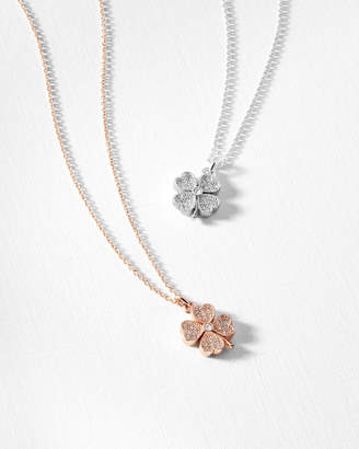 Ted Baker HEYAM Crystal clover necklace